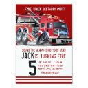 fire truck firefighter birthday invitations