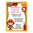 fire truck firefighter dalmatian birthday ff01c invitation