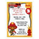 fire truck firefighter dalmatian birthday ff03a invitations