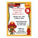 fire truck firefighter dalmatian birthday ff03b invitations