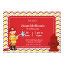 firefighter birthday boy invitation
