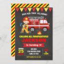 firefighter birthday invitation chalkboard