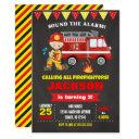 firefighter birthday invitations chalkboard