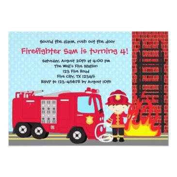 Firefighter Birthday Invitations Birthdayinvitations4u