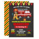 firefighter birthday invitation girl chalkboard