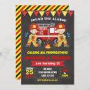 firefighter birthday invitation joint chalkboard