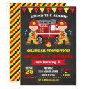firefighter birthday invitations joint chalkboard