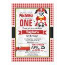 firefighter, fire truck birthday party invitation