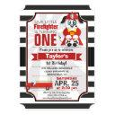 firefighter; firetruck birthday party invitation