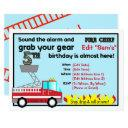 fireman 5th birthday party invitations firefighter