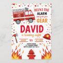 fireman boy birthday firefighter invitation