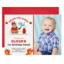 fireman firefighter birthday invitation boy