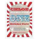 first birthday circus carnival party invitations