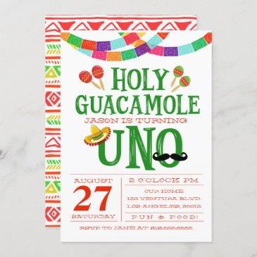 first birthday fiesta invitation