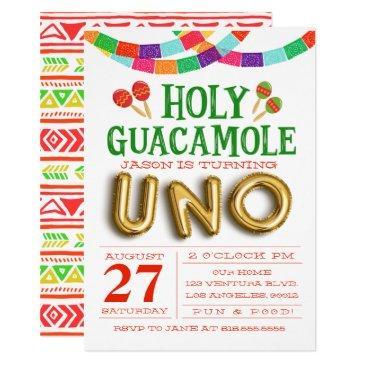 first birthday fiesta invitation