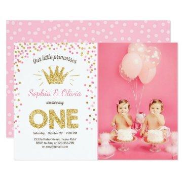 Twin Double Birthday Invitations Birthdayinvitations4u