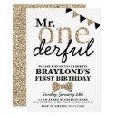 first birthday mr onederful invitations