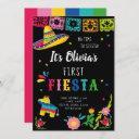 first fiesta, no time to siesta birthday invitation