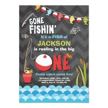 fishing birthday invitations reeling the big one