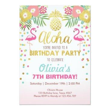 flamingo party invitations tropical birthday luau