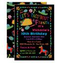 folk art mexican fiesta birthday party invitation