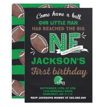 football birthday invitation football 1st birthday
