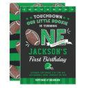 football birthday invitation football 1st birthday