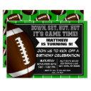 football birthday party invitation football fans