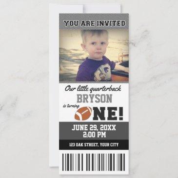 football first birthday ticket invitation