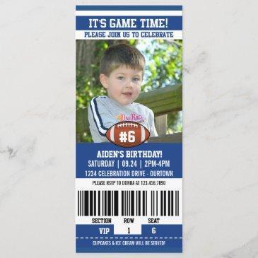 football photo template birthday party invitations
