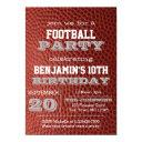 football silver all occasion invitation