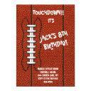 football sports birthday party invitations