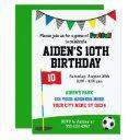 footgolf birthday invitations | soccer golf