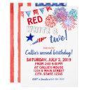 fourth of july birthday invitation