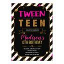 from tween to teen theme invitation