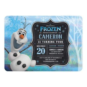 frozen 2 - olaf birthday party invitation