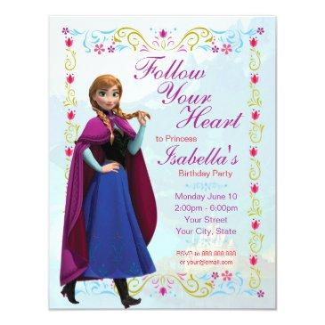 frozen anna birthday party invitations