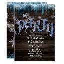 frozen icicles winter wonderland birthday party invitation