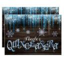 frozen icicles winter wonderland quinceañera party invitations