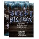 frozen icicles winter wonderland sweet 16 sixteen invitation