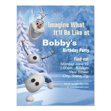 frozen olaf | in pieces birthday party invitations