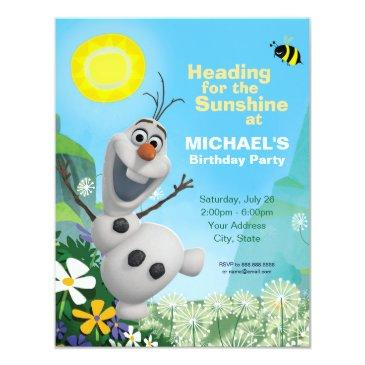 frozen olaf | summer birthday party invitation