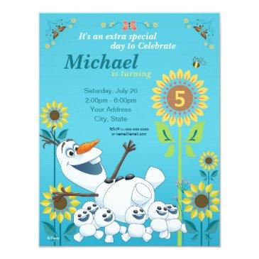 frozen summer olaf birthday party invitation