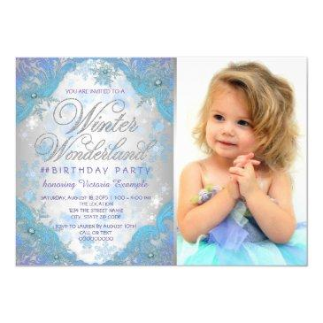 frozen winter wonderland birthday party invitations