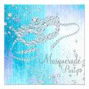 frozen winter wonderland diamond masquerade party invitation