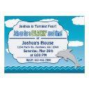 fun at sea dolphin birthday invitation