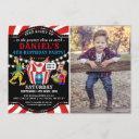 fun circus children's photo | carnival birthday invitation