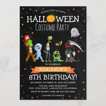 fun halloween kids costume birthday party invitation