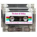 funny dj 80s cassette tape 18th birthday invitations