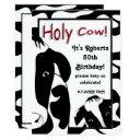funny holy cow 50th birthday party invite
